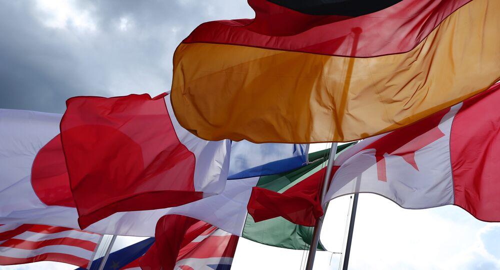 Bandeiras dos países do G7