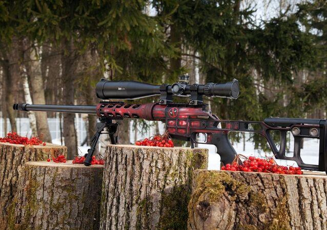 Um fuzil da alta precisão Lobaev com design extraordinário