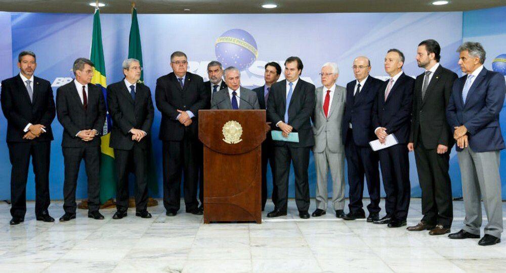 Michel Temer fala sobre a proposta de reforma da Previdência em pronunciamento à imprensa