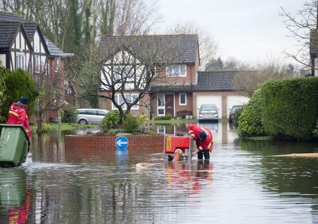 Inundação na Grã-Bretanha