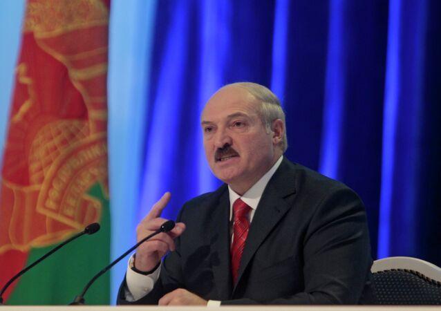 Presidente da Bielorússia, Alexander Lukashenko.