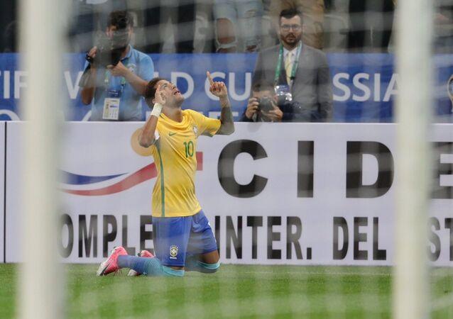 Partida entre Brasil x Paraguai pelas Eliminatorias da Copa do Mundo 2018 na Arena Corinthians
