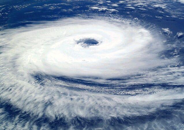 Ciclone tropical visto do Espaço