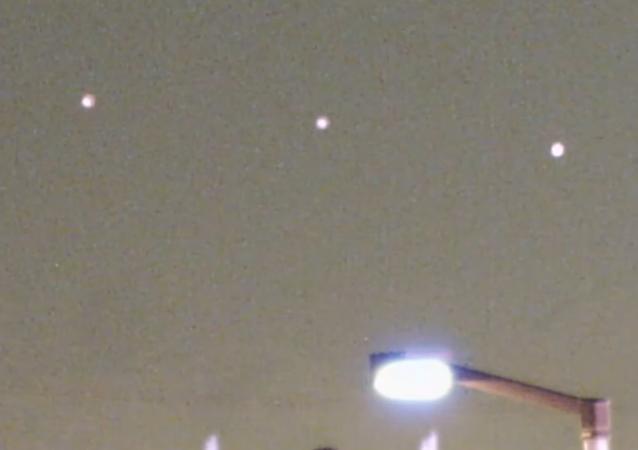 Misteriosos objetos luminosos no céu de Las Vegas
