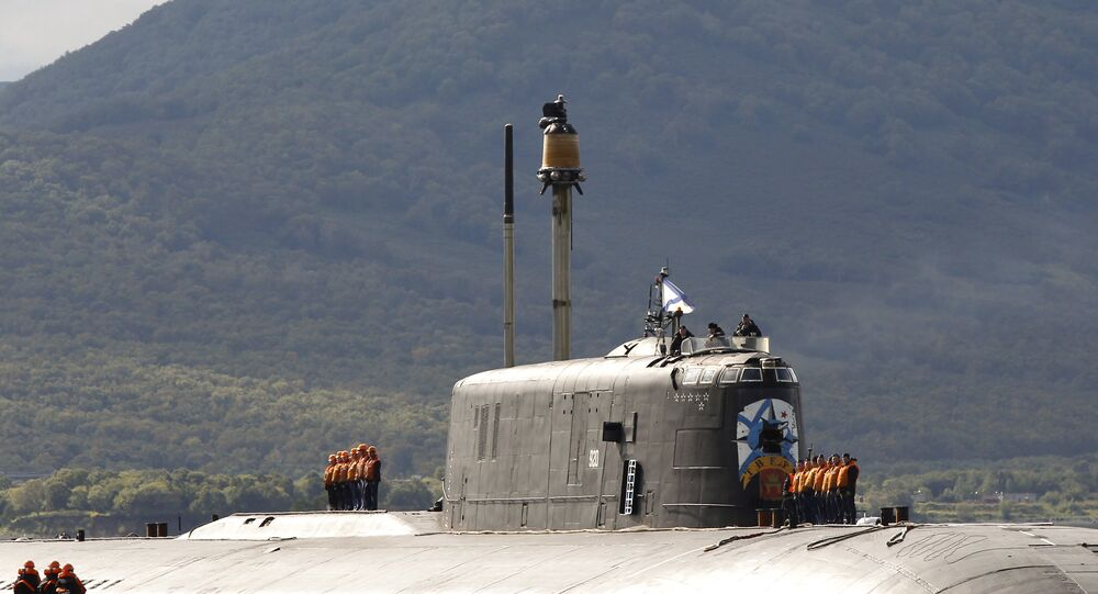 Submarino Tver do projeto 949 Antei (foto de arquivo)