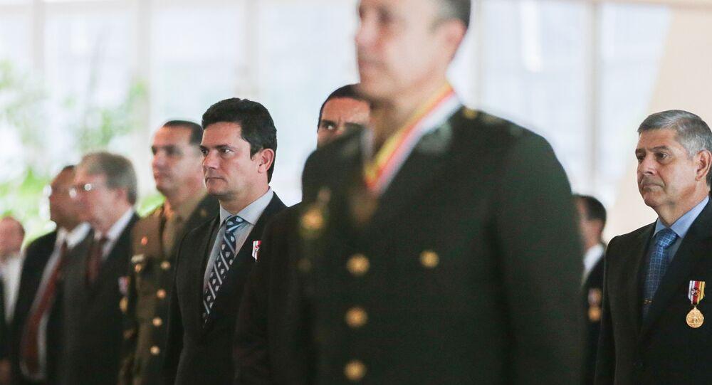 30/03/2017, Brasília - Juiz federal Sérgio Moro durante cerimônia de entrega de comendas da Ordem do Mérito Judiciário Militar, em comemoração aos 209 anos Justiça Militar da União