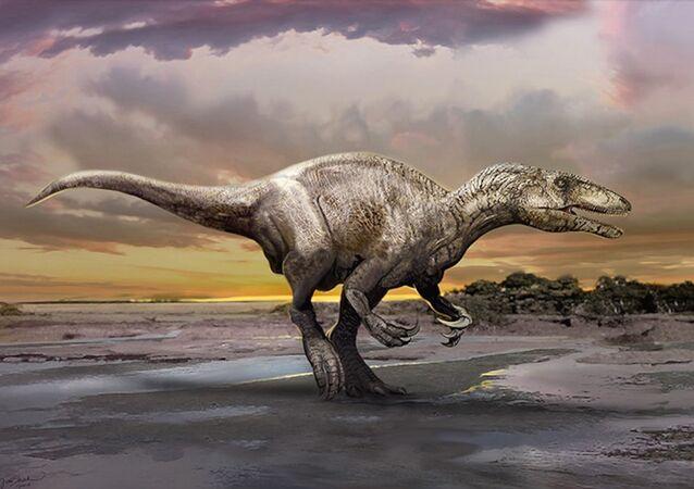 Impressão artística de um dinossauro