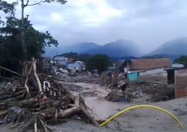 Fortes chuvas causam tragédia na Colômbia