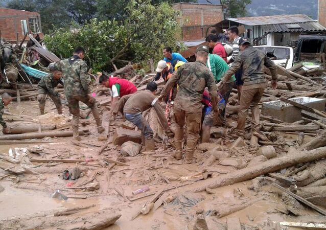 Fortes chuvas causam tragédia na Colômbia (arquivo)