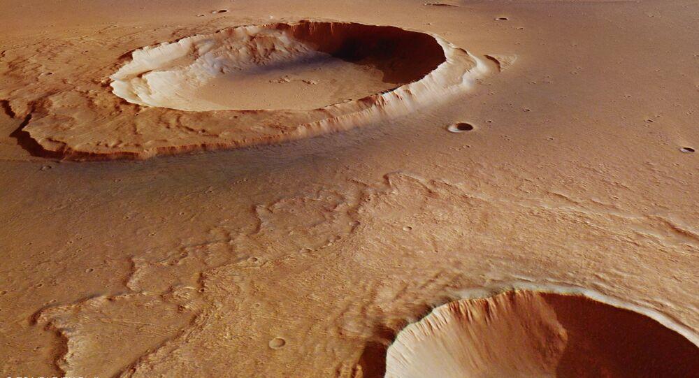 Crateras de Marte (foto de arquivo)