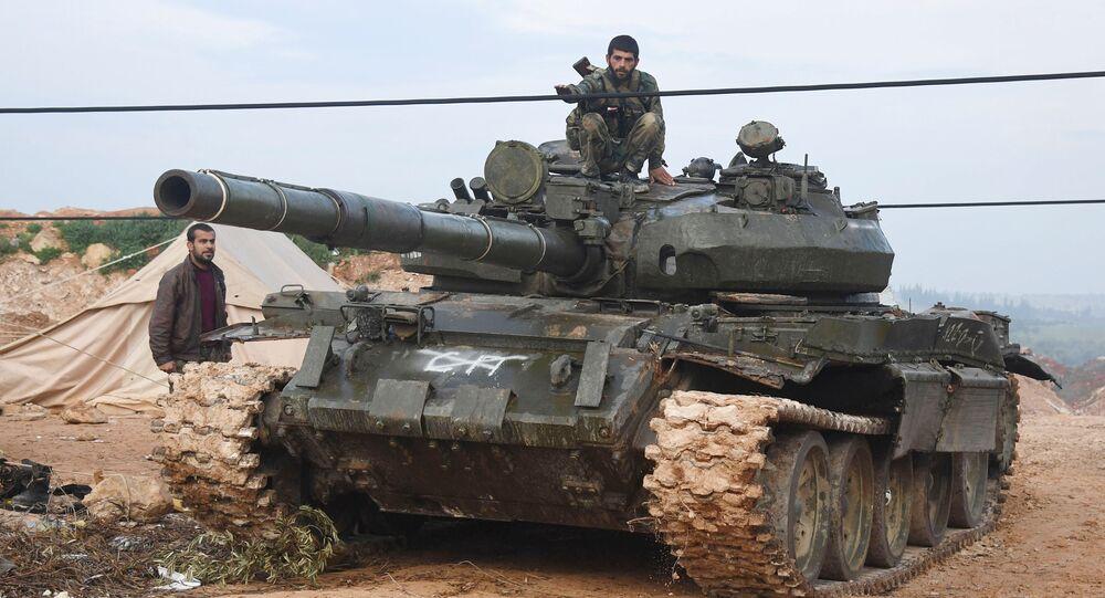 Exército sírio no norte da província e Hama (foto de arquivo)