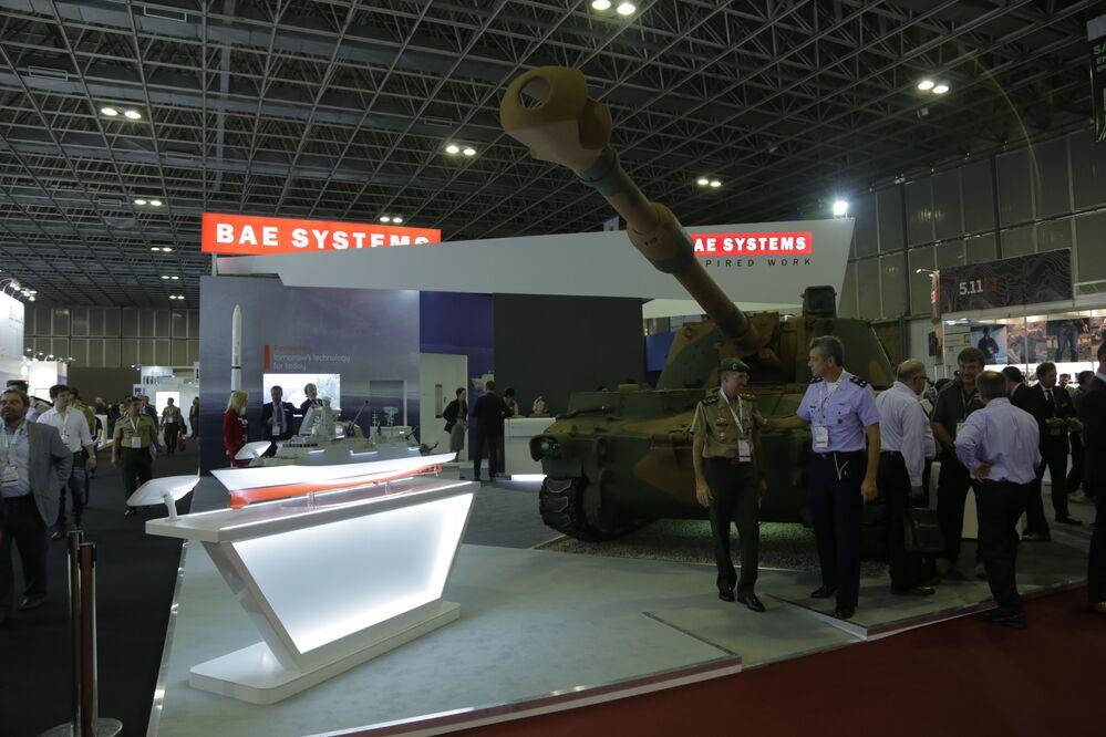Tanque de guerra exibido na LAAD 2017