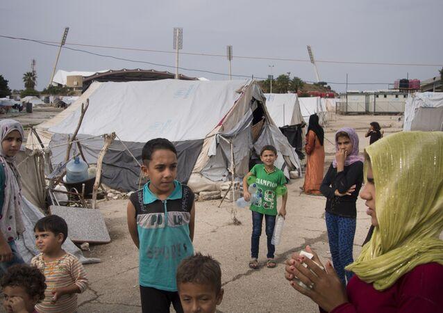 Deslocados internos em um campo de acolhimento da província de Latakia, na Síria (arquivo)