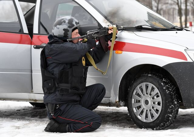 Russian Guard servicemen. File photo