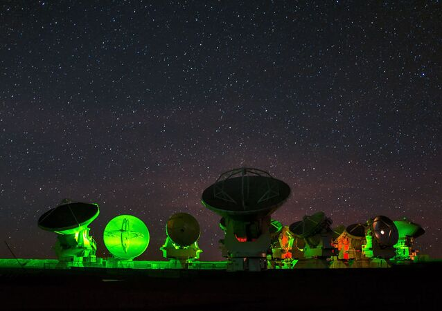 Maior radiotelescópio do mundo – observatório espacial do ALMA (Atacama Large Millimeter Array), Chile