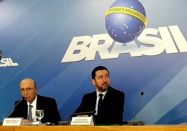 Ministros Henrique Meirelles e Dyogo Oliveira falam sobre a meta da inflação