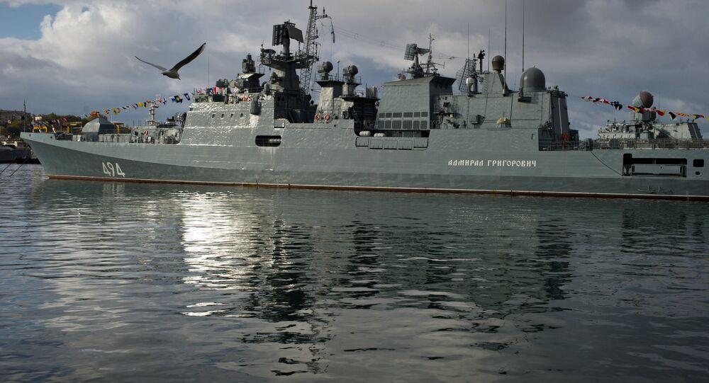 Fragata Admiral Grigorovich da Frota do Mar Negro (arquivo)