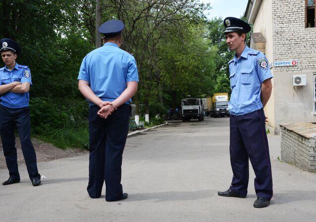 Policiais ucranianos