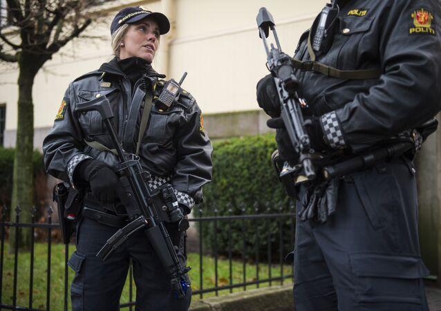 Agentes da polícia norueguesa em Oslo (arquivo)