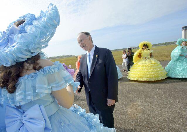 Robert Bentley, governador do Alabama, durante um evento em Mobile, Alabama, em 4 de agosto de 2013