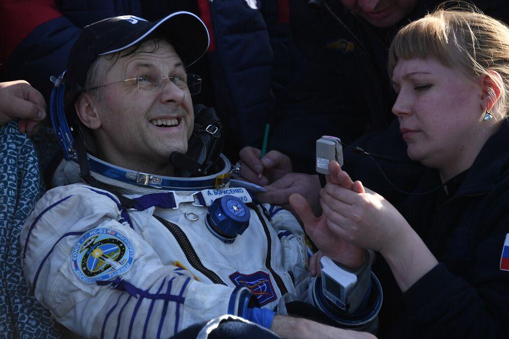 Borisenko passa por primeiros exames em terra após longo período no espaço