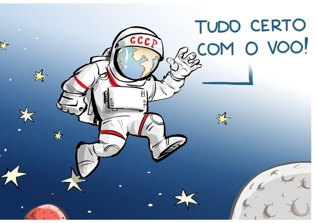 Ser o primeiro no espaço é entrar na História!