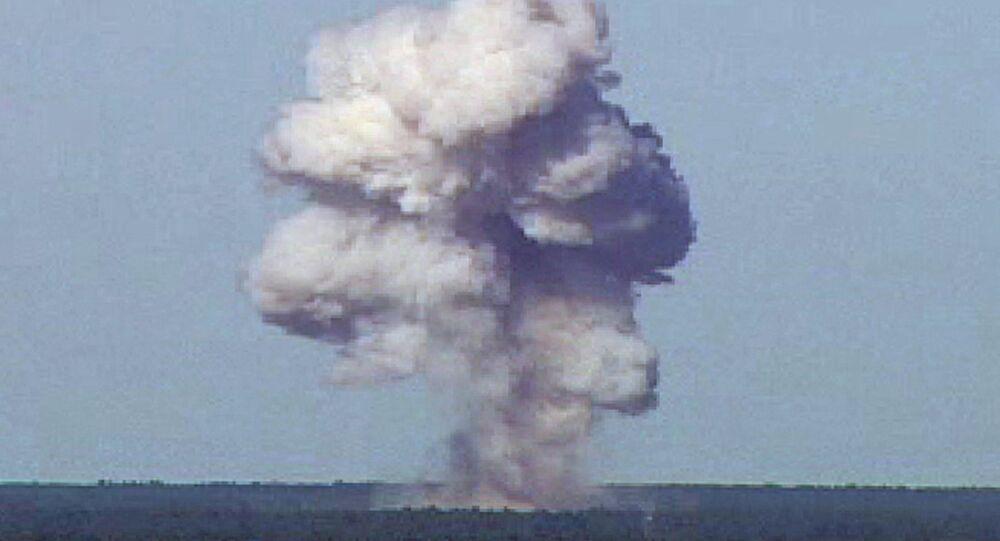 Lançamento de maior bomba não nuclear dos EUA, teste (foto de arquivo)