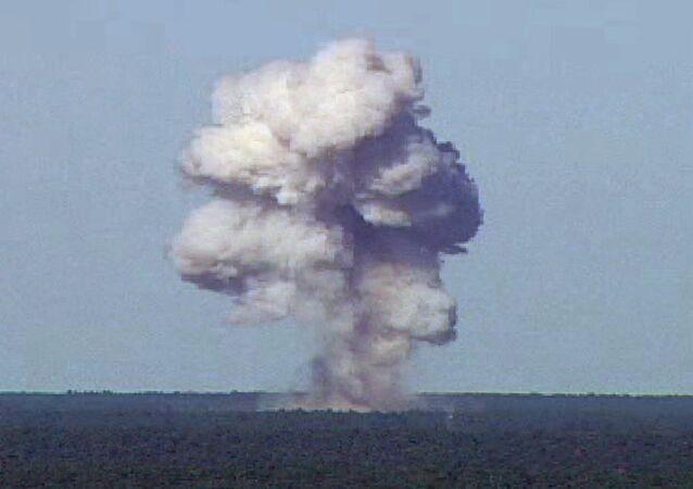 Lançamento de maior bomba não nuclear dos EUA no Afeganistão, 13 de abril de 2017