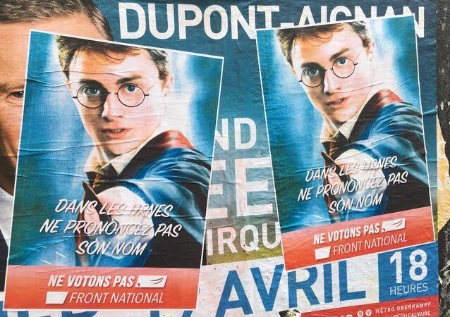Harry Potter diz 'não' à candidata Le Pen