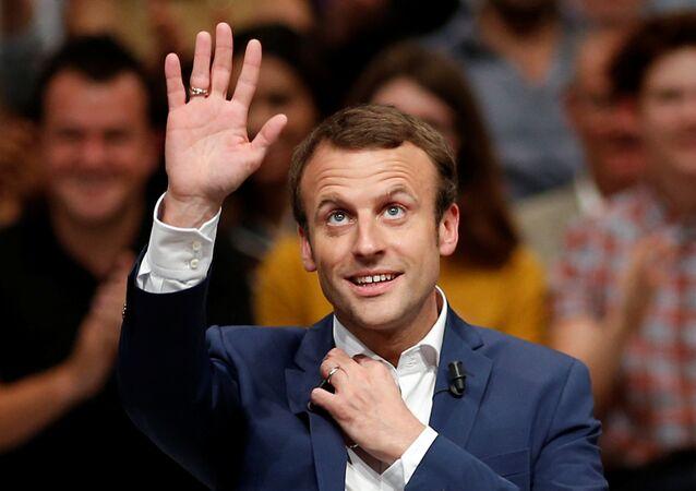 Candidato à presidência francesa Emmanuel Macron