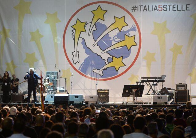 O líder do Movimento 5 Estrelas Beppe Grillo