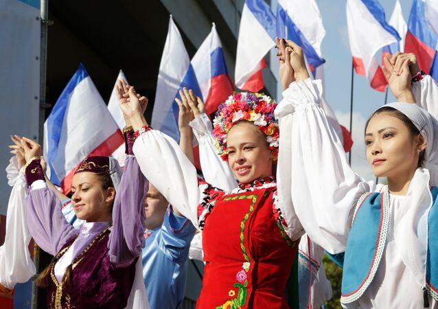 Celebrations of the Crimea National Flag Day in Simferopol