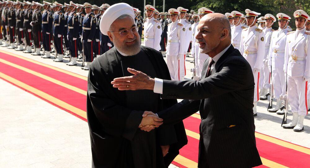 Encontro dos presidentes Hassan Rouhani e Ashraf Ghani