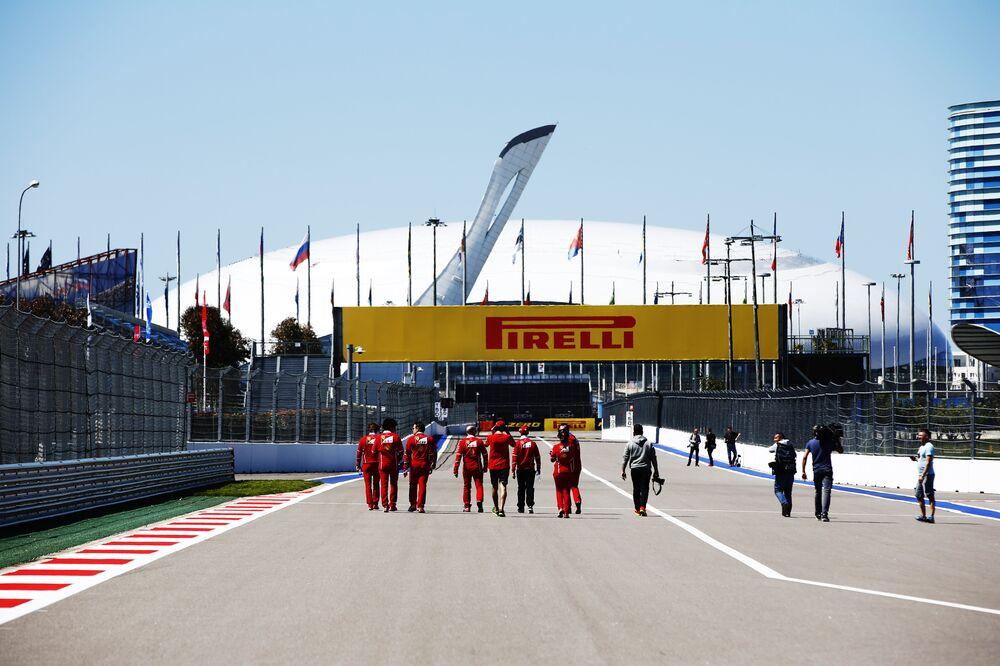 Preparativos do Grand Prix da Rússia de F1, em Sochi