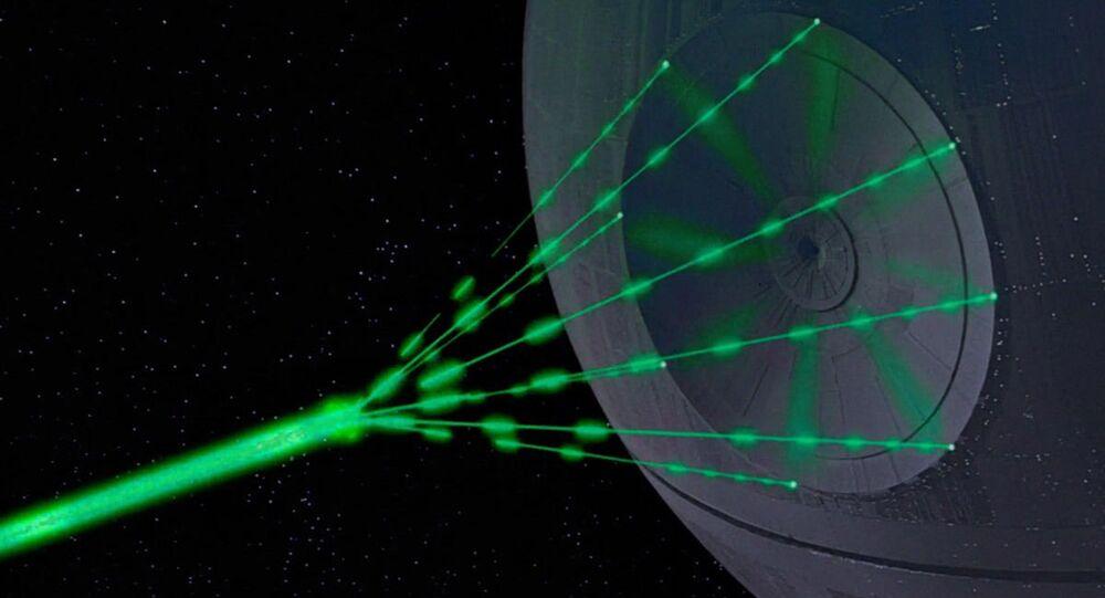 O super laser usado na saga de George Lucas Guerra nas Estrelas para destruir planetas inteiros