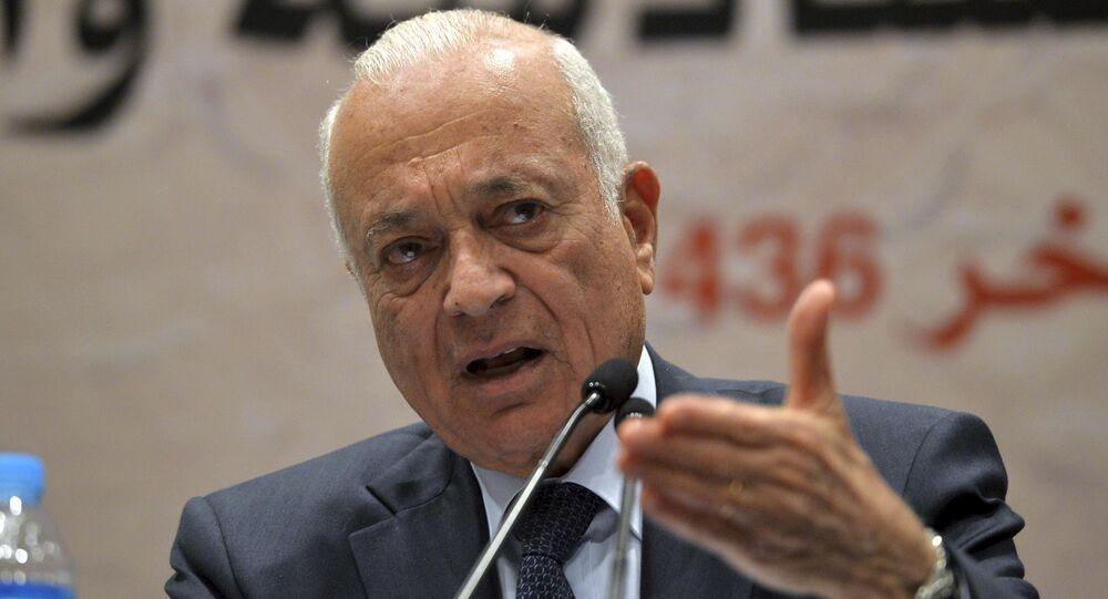 Secretário-geral da Liga Árabe, Nabil al-Arabi