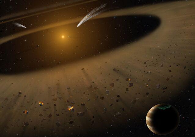Sistema solar no espaço (imagem referencial)