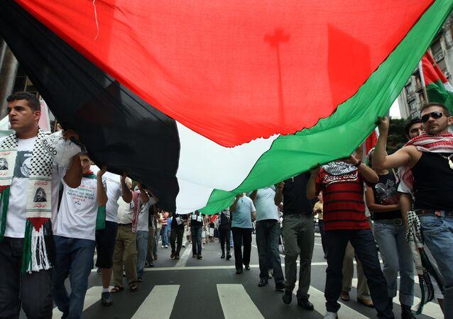 Palestinos se manifestam em São Paulo