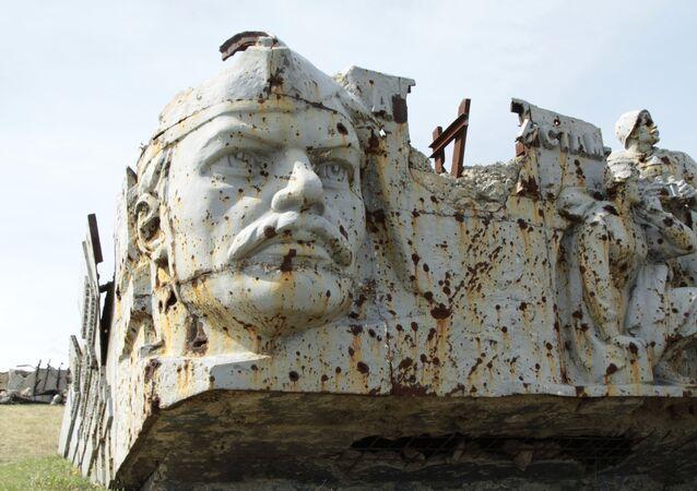 Complexo memorial Saur-Mogila em Donetsk