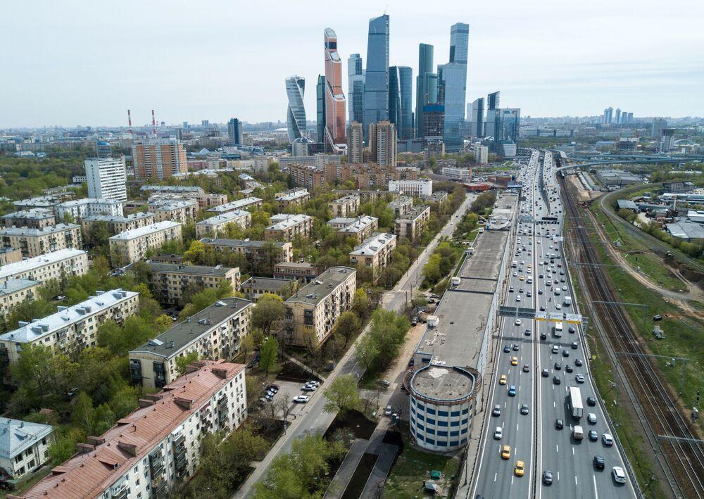 Um dos bairros de Moscou