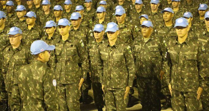 Cerimônia de formatura dos soldados do BRABAT 26