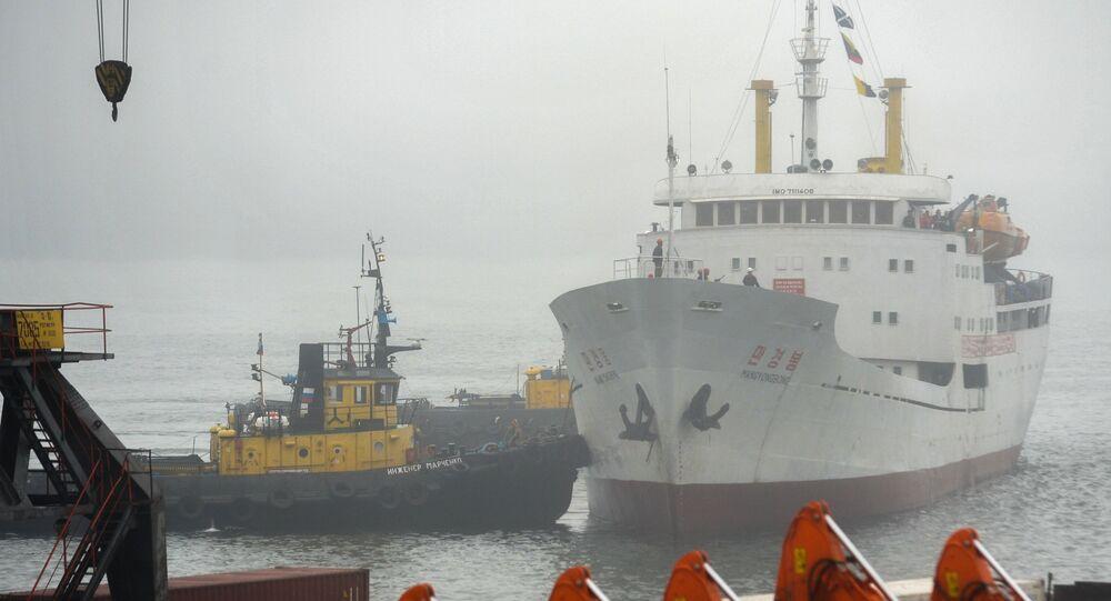 Primeiro navio da Coreia do Norte chega ao porto russo de Vladivostok