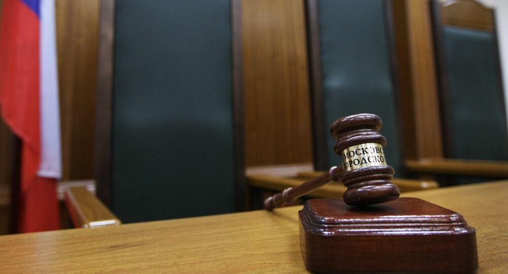 Assento do juiz em um Tribunal de Moscou