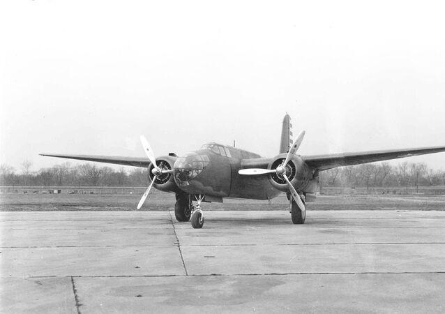 O bombardeiro Intact Douglas DB-7 Boston/A-20