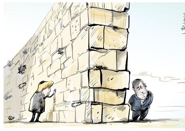 Trump e Netanyahu estão de lados opostos do Muro das Lamentações