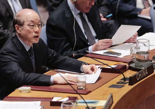 Representante chinês na ONU Liu Zeyi