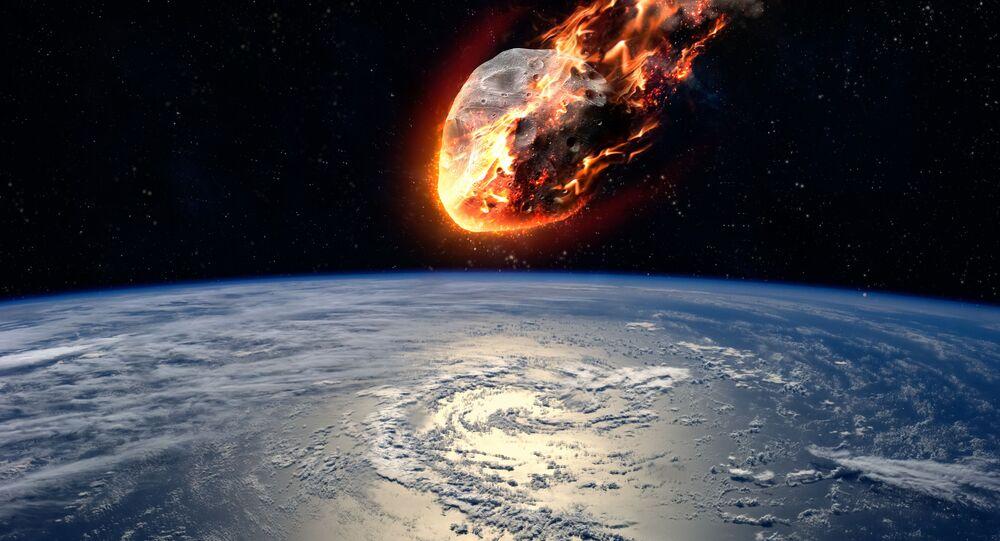 Um asteroide aproxima-se da Terra (imagem referencial)