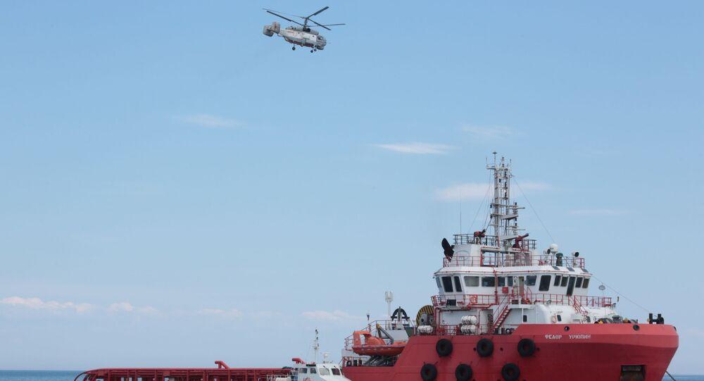 Treinamento das forças especiais do FSB no mar Negro
