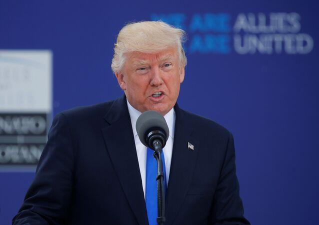 Trump na cúpula da OTAN em Bruxelas