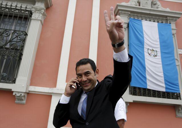 Jimmy Morales, candidato del Frente de Convergencia Nacional